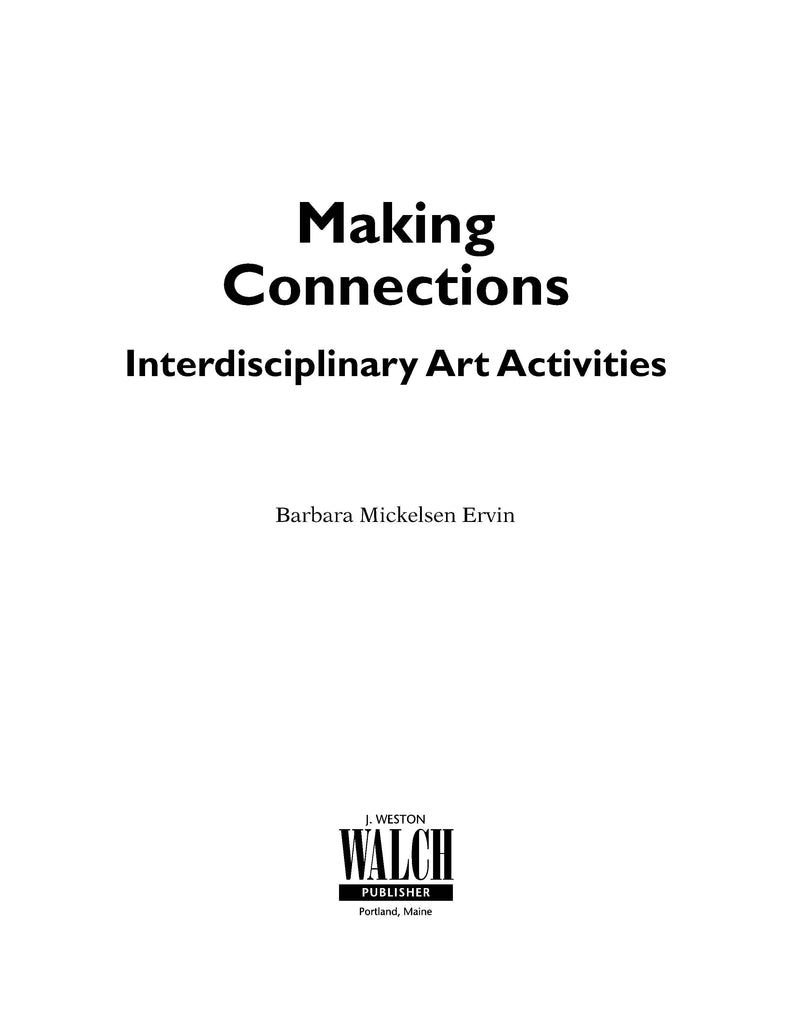 Bright Education Australia, Teacher Resources, Visual Art, Art, Book, drawing, painting, Making Connections: Interdisciplinary Art Activities