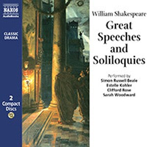 Great Speeches & Soliloquies, CD, Theatre, Play, Shakespeare, Bright Education, School Materials, Teaching Resources, Audio Book