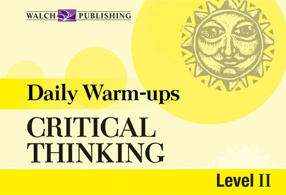Daily Warm Ups Critical Thinking Level 2, Bright Education Australia, Book, Grammar, English, School Materials, Games, Puzzles, Activities, Teaching Resources, Maths, Science, Social Science, Life Skills