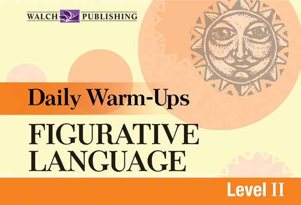 Daily Warm Ups Figurative Language Level 2, Bright Education Australia, Book, Grammar, English, School Materials, Games, Puzzles, Activities, Teaching Resources