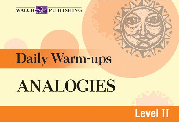 Daily Warm Ups Analogies Level 2, Bright Education Australia, Book, Grammar, English, School Materials, Games, Puzzles, Activities, Teaching Resources