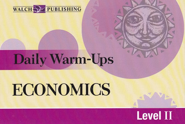Daily Warm Ups Economics Level 2, Accounting, Finance, Quantitative Data, Financial Data, Market Share, Market Growth, Marketing, A1 Poster, Economics, Business, Teaching Resources, Book, Bright Education Australia