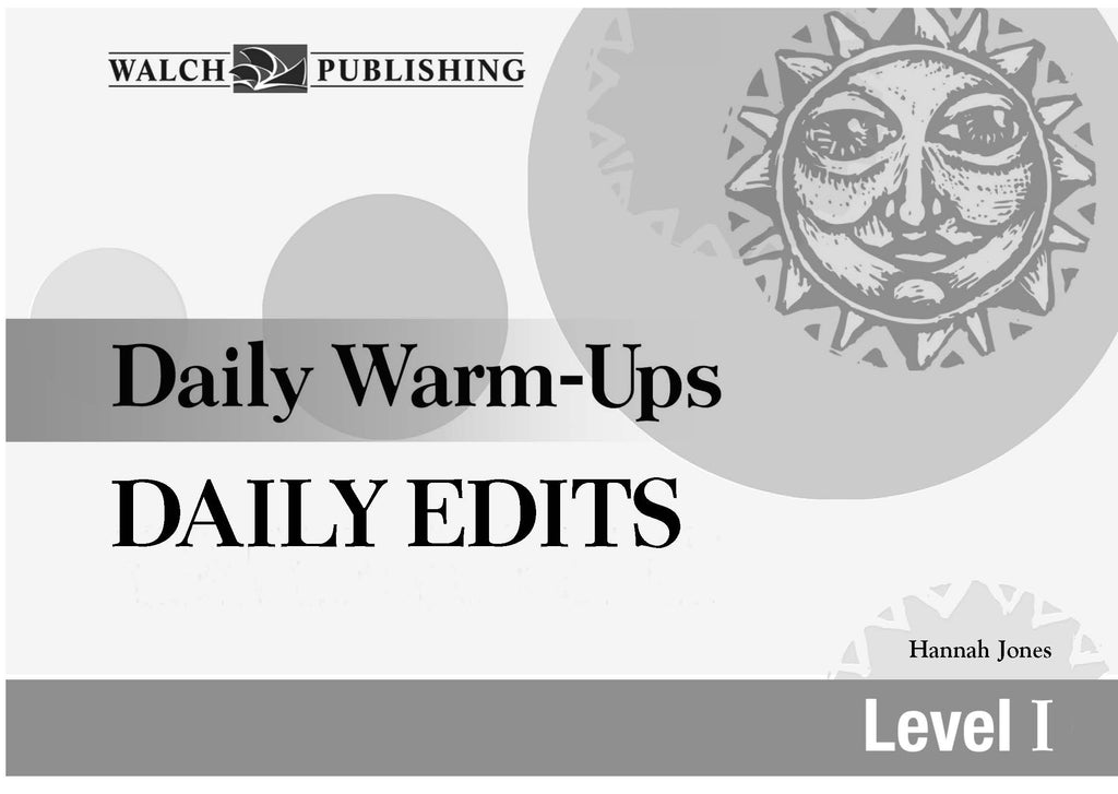Daily Warm Ups Daily Edits Level 1, Bright Education Australia, Book, Grammar, English, School Materials, Games, Puzzles, Activities, Teaching Resources, Spelling