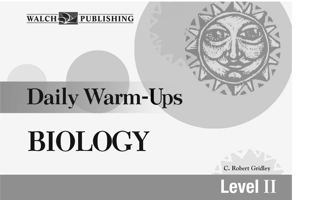 Daily Warm Ups Biology Level 2, Science, Biology, Physics, Chemistry, Earth Science, Teaching Resources, Book, Bright Education Australia