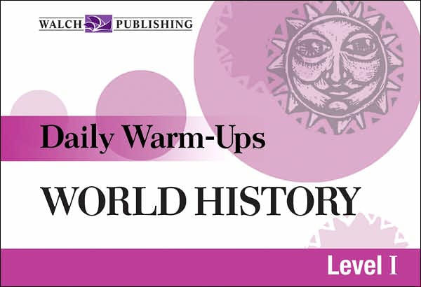 Bright Education Australia, Teacher Resources, Book, History, Daily Warm Ups World History Level 1