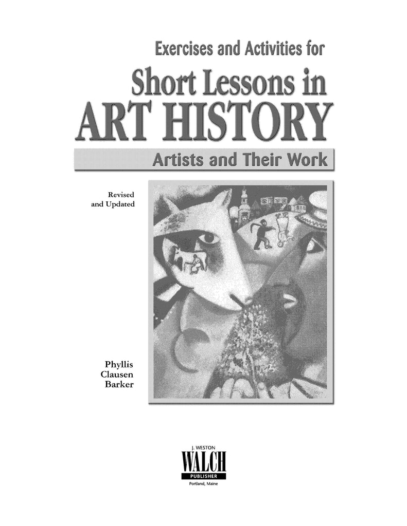 Bright Education Australia, Teacher Resources, Visual Art, Art, Book, drawing, painting, Short Lessons in Art History: Artists & Their Work, Exercises & Activities Student Book
