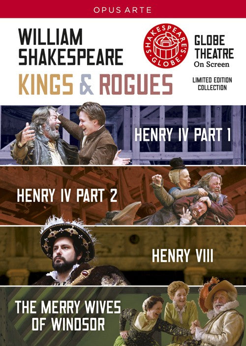 Kings & Rogues, DVD, Theatre, Play, Shakespeare, Bright Education Australia, School Materials, Globe Live, Globe Theatre, Teaching Resources, Royal Shakespeare Company, Henry IV, Henry VII, The Merry Wives of WIndsor