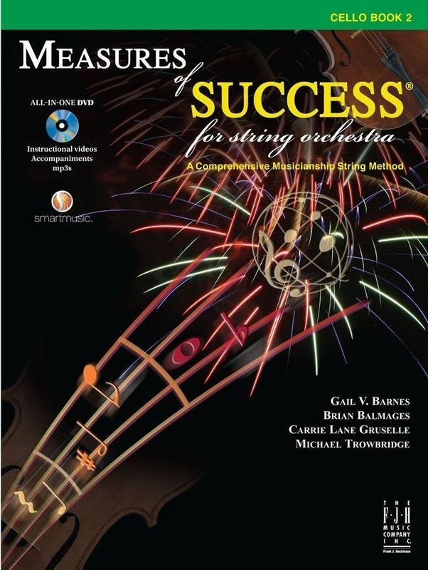 Bright Education Australia, Teacher Resources, Music, Book, Measures of Success Cello Book 2 + DVD