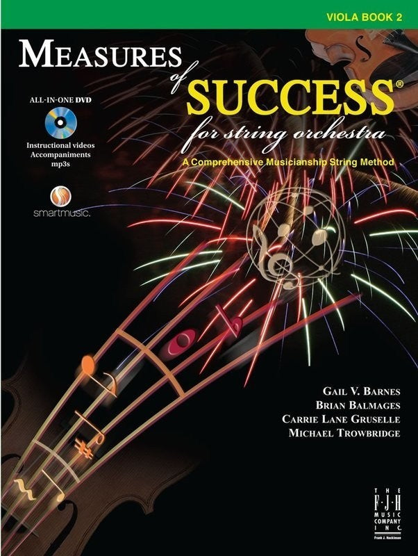 Bright Education Australia, Teacher Resources, Music, Book, Measures of Success Viola Book 2 + DVD
