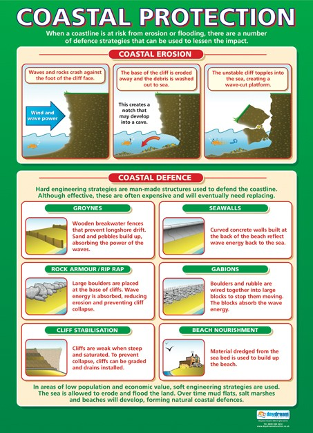 Bright Education Australia, Teacher Resources, Poster, A1 Poster, Geography, Biomes, Plants, Animals, Climate, Earth Science, Coastal Management, Coastal Processes, Coastal Protection
