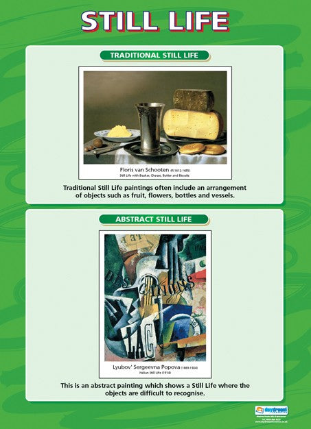 Visual Art, Art, Poster, A1 Poster, Painting, Drawing, Still Life, Schooten, Popova, Bright Education Australia, Teacher Resources,