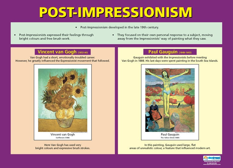 Visual Art, Art, Poster, A1 Poster, Painting, Drawing, Van Gogh, Gaugin, Bright Education Australia, Teacher Resources,