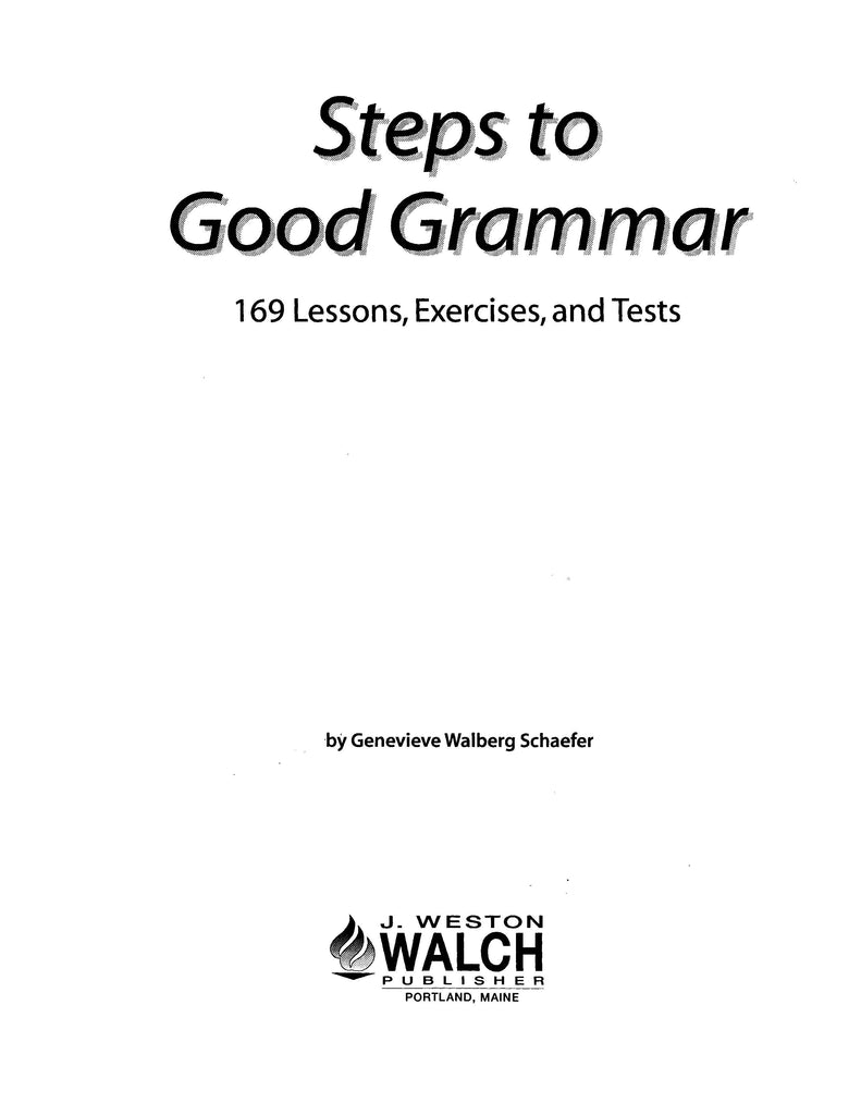 Steps to Good Grammar, Bright Education Australia, Book, Grammar, English, School Materials, Games, Puzzles, Activities, Teaching Resources