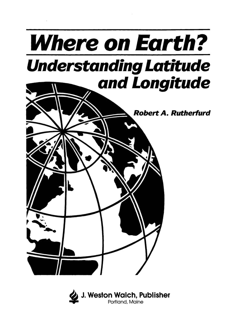 Bright Education Australia, Teacher Resources, Book, Geography, Climate, Earth Science, Where on Earth? Understanding Latitude & Longitude