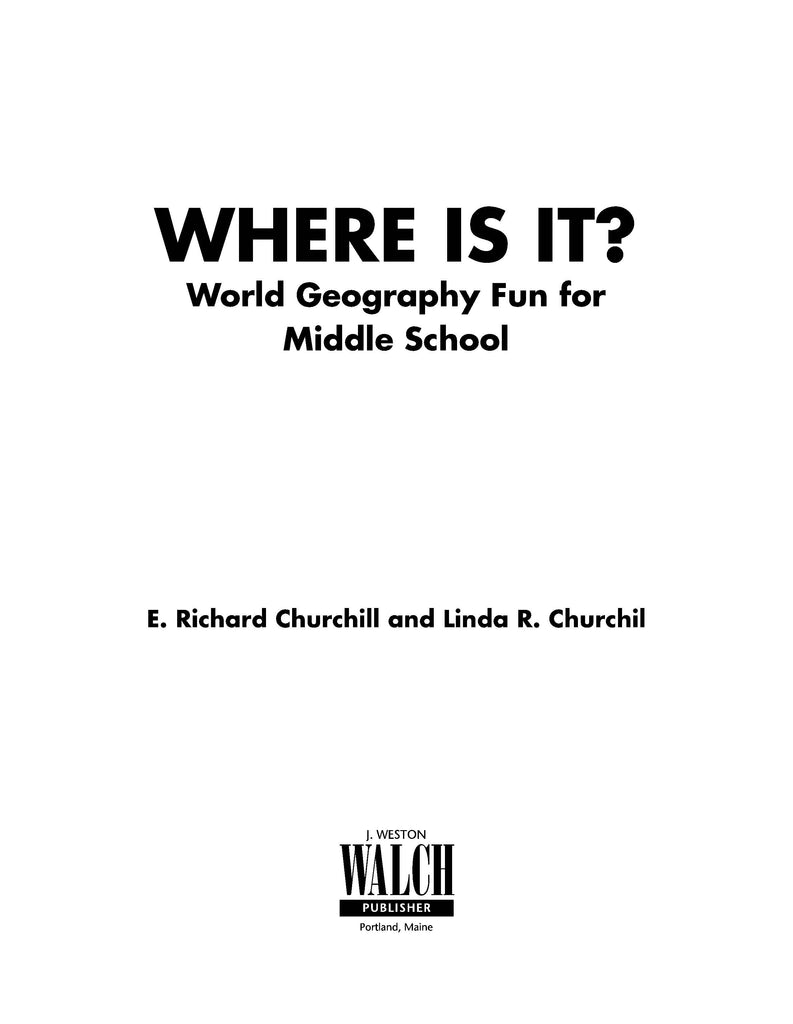 Bright Education Australia, Teacher Resources, Book, Geography, Climate, Earth Science, Where Is It? World Geography Fun For Middle School