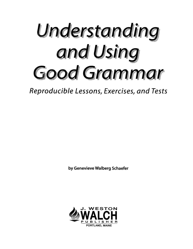 Understanding & Using Good Grammar, Bright Education Australia, Book, Grammar, English, School Materials, Games, Puzzles, Activities, Teaching Resources
