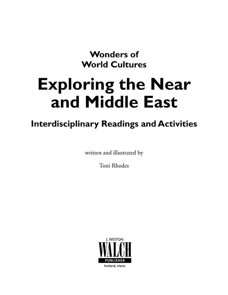 Bright Education Australia, Teacher Resources, Book, History, Wonders of World Cultures: Exploring Near & Middle East