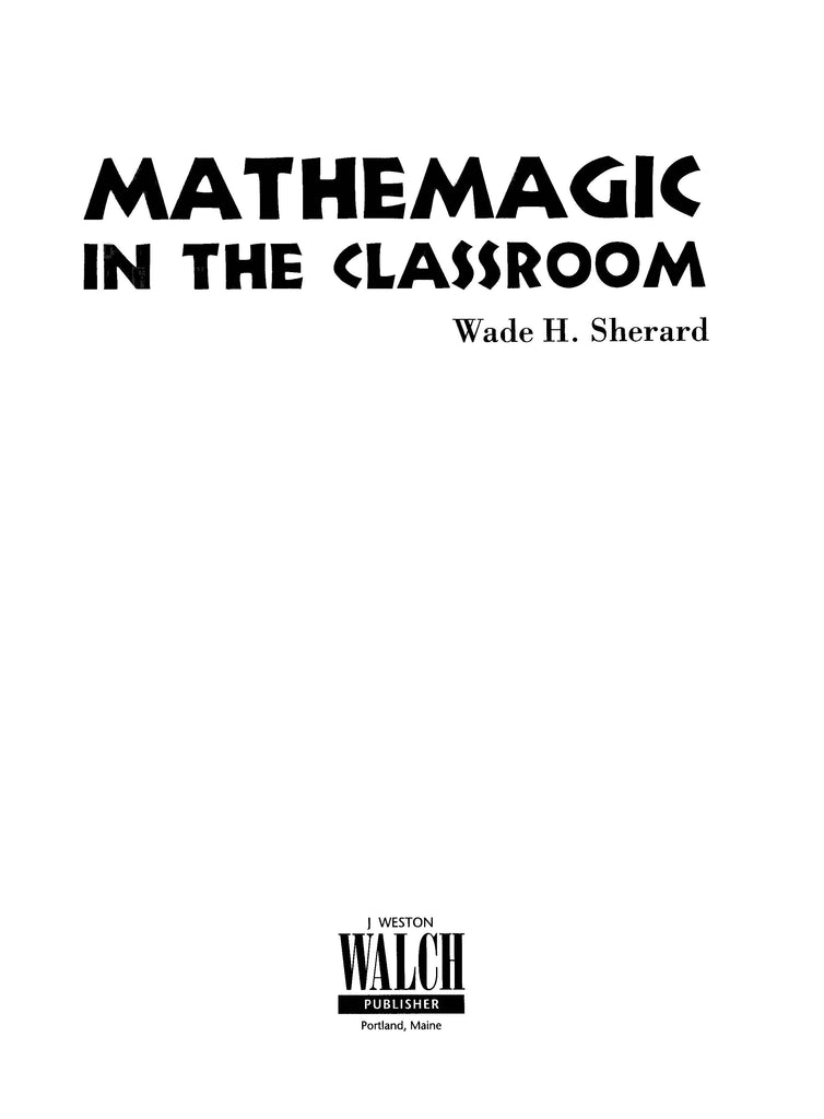 Bright Education Australia, Teacher Resources, Maths, Books, Mathemagic in the Classroom