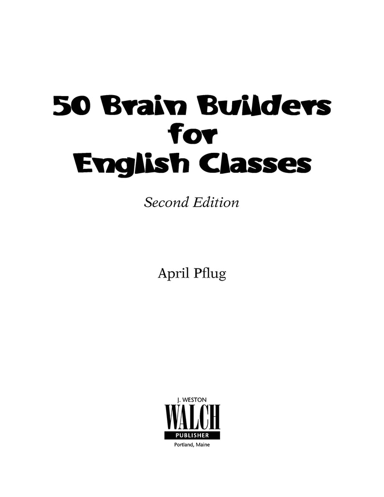 50 brain builders for english classes, Bright Education Australia, Book, Grammar, English, School Materials, Games, Puzzles, Activities, Teaching Resources