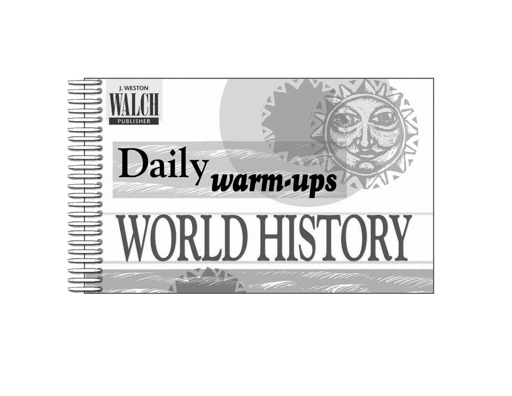 Bright Education Australia, Teacher Resources, Book, History, Daily Warm Ups World History Level 2