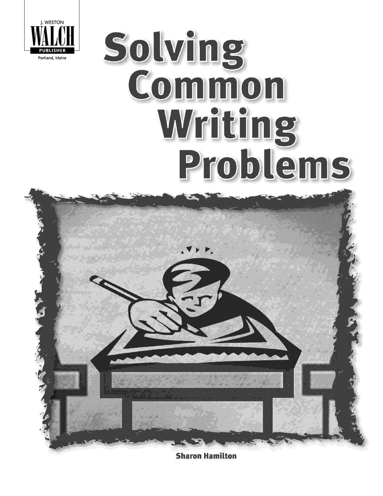 Solving Common Writing Problems, Bright Education Australia, Book, Grammar, English, School Materials, Games, Puzzles, Activities, Teaching Resources