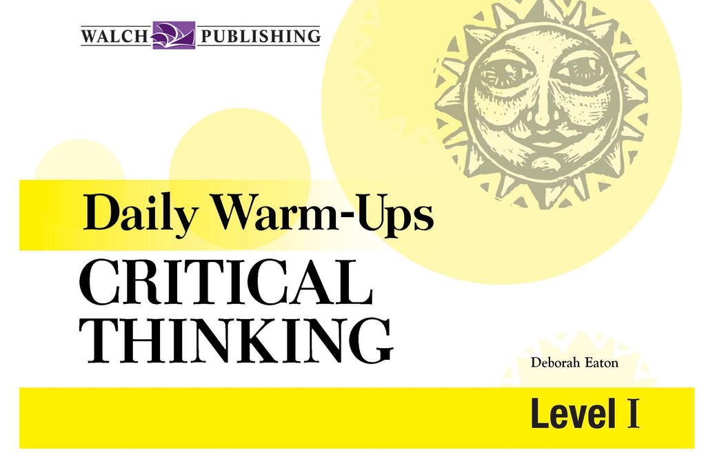 Daily Warm Ups Critical Thinking Level 1, Bright Education Australia, Book, Grammar, English, School Materials, Games, Puzzles, Activities, Teaching Resources, Maths, Science, Social Science, Life Skills