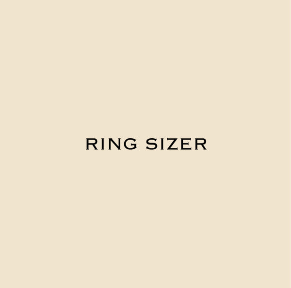 image that says ring sizer, when you need to find out what your ring size is at home