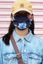 Load image into Gallery viewer, Spring Time Navy Floral Mask
