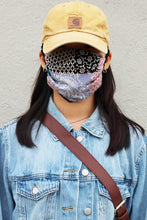 Load image into Gallery viewer, Indigo Bandana Print Mask