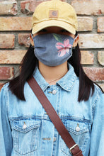 Load image into Gallery viewer, Harvest Navy Floral Print Mask
