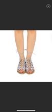Load image into Gallery viewer, Ash Blue Ankle-Tie Athena Gladiator Sandal