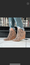 Load image into Gallery viewer, The Ability Faux Suede wedge Bootie In Leopard