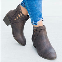 Load image into Gallery viewer, Brown Cross Cross Chic bootie