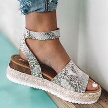 Load image into Gallery viewer, Snake Single Strap Espadrille Sandal