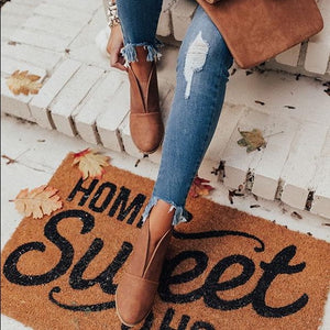 Rust Ramona Front V-cut Closed Toe Bootie