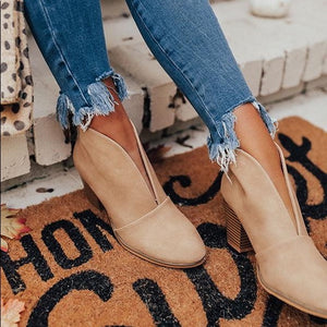 Wheat Ramona Front V-cut Closed Toe Bootie