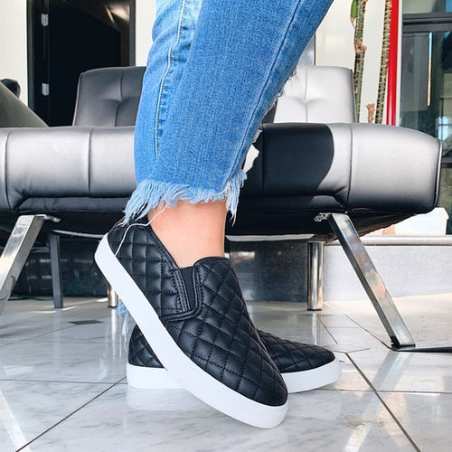 Black Alone Quilted Sneaker