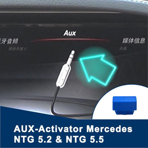 AUX (Jack) activator Mercedes Benz NTG 5.2 and 5.5