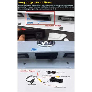 Rear view camera handle for Audi A1