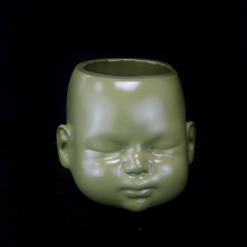 jawline jewellery the blackened teeth olive doll head pot plant pot gothic home