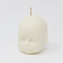 Load image into Gallery viewer, Doll head shaped candle in white