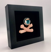 Load image into Gallery viewer, alternative artwork from jawline jewellery. doll eyes and doll parts macabre homewares