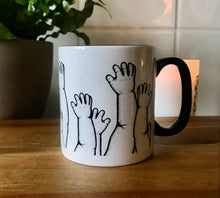 Load image into Gallery viewer, Tattoo style dot work design. horror mug gothic kitchenware