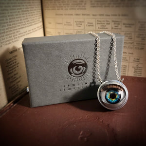 Blinking Doll Eye Necklace - Northern Lights