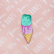 Load image into Gallery viewer, Enamel Pin - Ice Cream Doll Heads