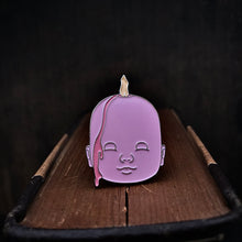 Load image into Gallery viewer, Enamel Pin - Doll Head Candle