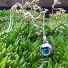 Load image into Gallery viewer, doll eye necklace eyeball necklace dark aesthetics alt jewellery