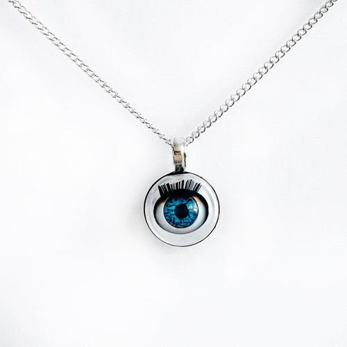 blinking eyeball necklace jawline jewellery unusual alien alternative jewellery