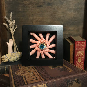 outsider art creepy doll part shadow box art alternative dark aesthetics