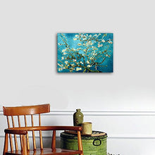 Load image into Gallery viewer, Wieco Art Giclee Canvas Prints Wall Art for Wall Decor by Van Gogh Paintings Almond Blossom Modern One Piece Stretched and Framed Abstract Flowers Artwork Home Office Decorations